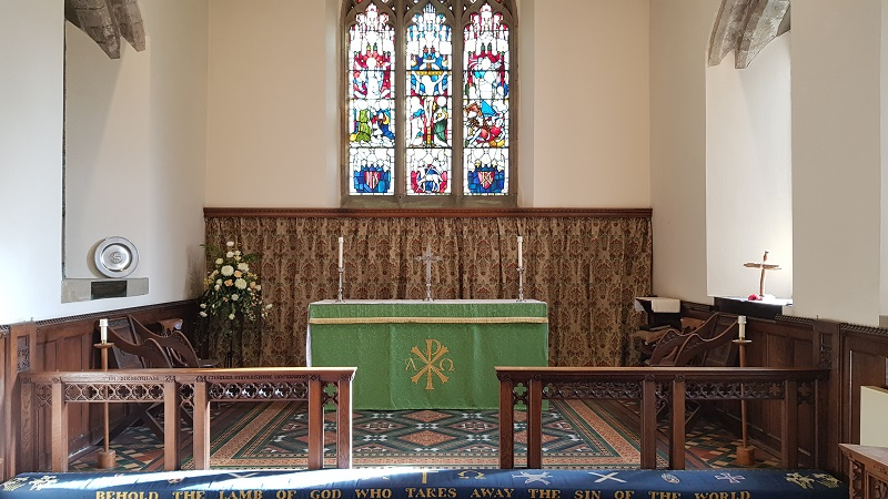 The Altar from where we distribute Holy Communion