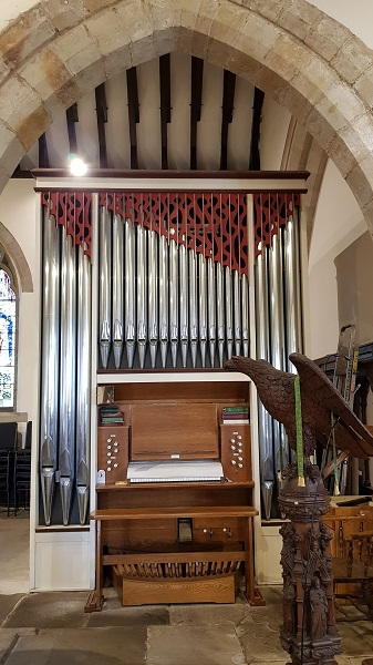 The organ which is played to accompany hymns