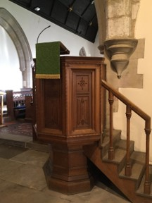 The Pulpit from where a sermon may be preached