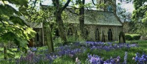 whitburn parish church in the springtime